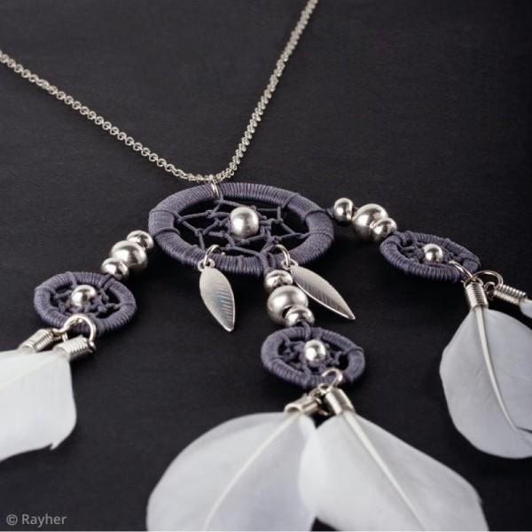 Cercles pour bijoux attrape-rêves - Argenté - 20 mm - 2 pcs - Photo n°4