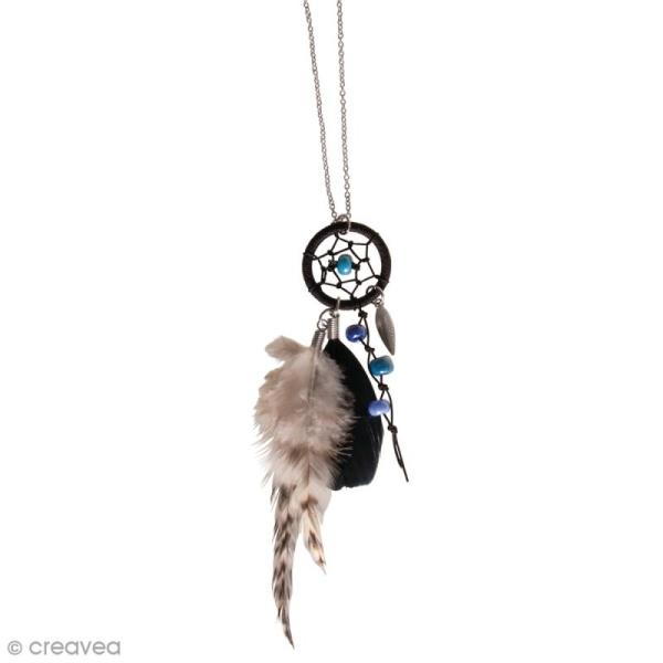 Kit bijou Collier attrape-rêves Rayher - Luna Bleu - Photo n°2