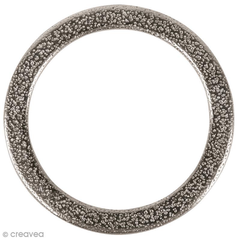 cercle pour bijoux attrape r ves m tal martel argent 37 mm support collier creavea. Black Bedroom Furniture Sets. Home Design Ideas