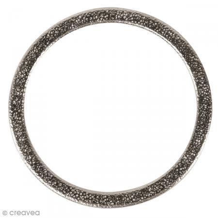 cercle pour bijoux attrape r ves m tal martel argent 50 mm mat riel et cercles bijoux. Black Bedroom Furniture Sets. Home Design Ideas