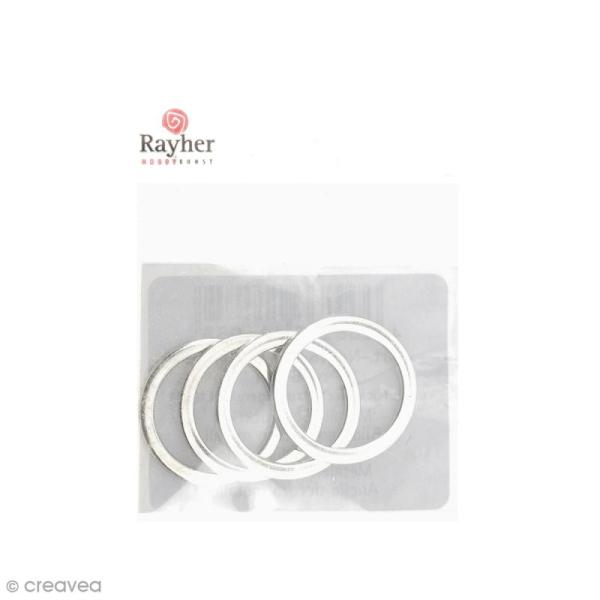 Cercles pour bijoux attrape-rêves - Argenté - 15 mm - 4 pcs - Photo n°1