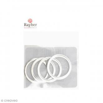 Cercles pour bijoux attrape-rêves - Argenté - 15 mm - 4 pcs