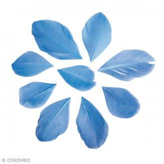Plumes coupées Bleu clair 6 cm - 2 g