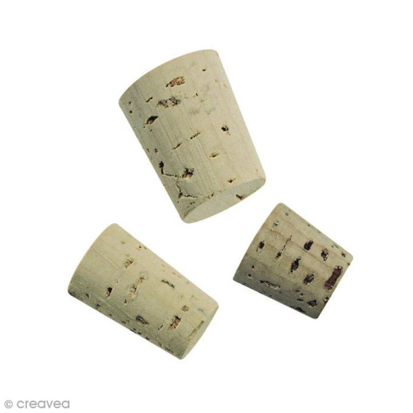 Bouchons pointus pour flacons - 3 tailles - 36 pcs - Photo n°1