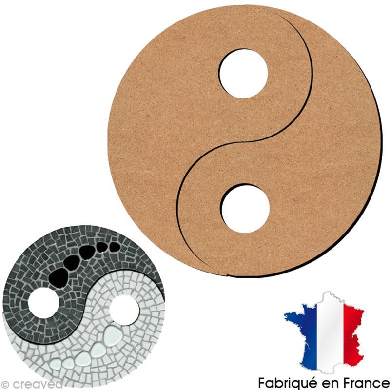 Yin yang en bois 26 cm support d co divers creavea for Deco yin yang