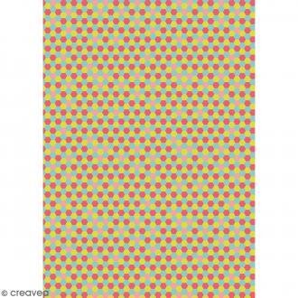 Décopatch Jaune et multicolore N° 713 - 1 feuille