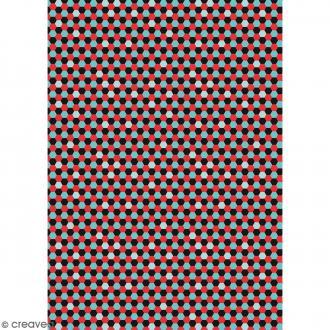 Décopatch Noir et rouge N° 719 - 1 feuille