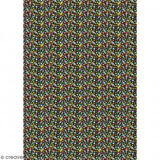 Décopatch Noir et multicolore 720 - 1 feuille