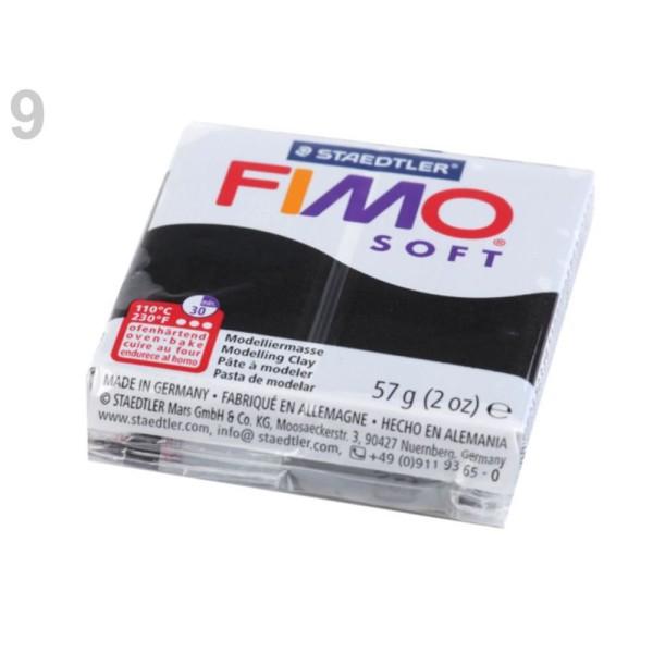 1pc Noir FIMO Polymère pâte à modeler 57 octies, Doux, -, de l'Artisanat et Loisirs - Photo n°1
