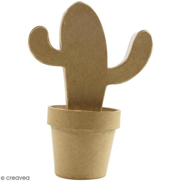 Cactus mexicain à décorer - 20 x 13,5 x 9 cm - Photo n°1