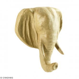 Tête éléphant à décorer - 16 x 20 cm