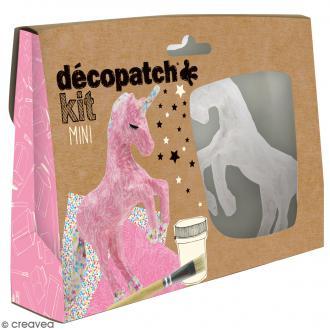 Mini kit créatif Welcome Décopatch - Licorne