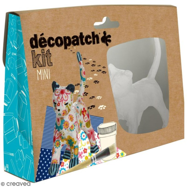 Mini kit créatif Welcome Décopatch - Chat - Photo n°1