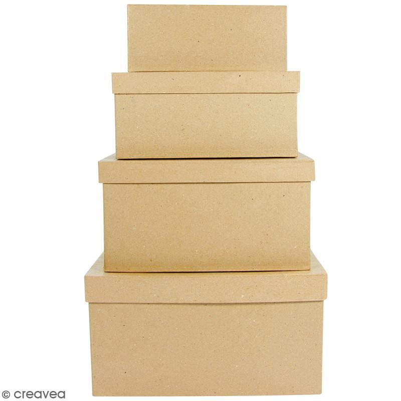 Boîtes Rectangulaires à décorer - 17 x 28 x 15 cm - 4 pcs - Photo n°1