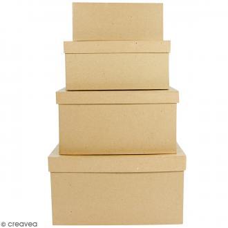 Boîtes Rectangulaires à décorer - 17 x 28 x 15 cm - 4 pcs