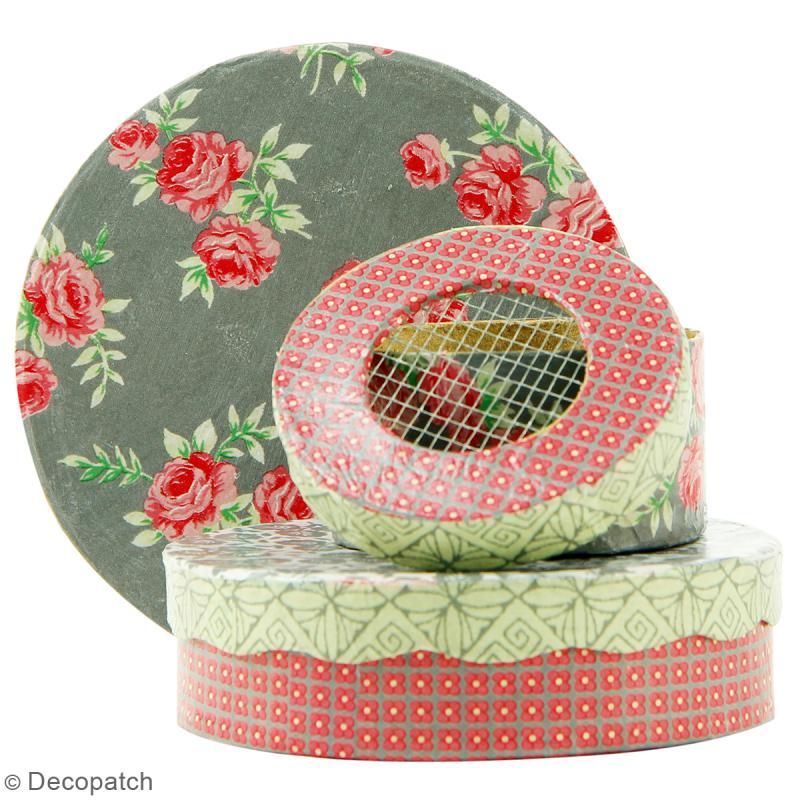 Boîtes Rondes Chapeau à décorer - 33 x 16 cm - 3 pcs - Photo n°2