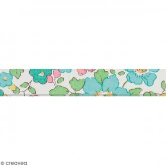 Biais Liberty - Fleurs champêtres - Multicolore - Au mètre (sur mesure)