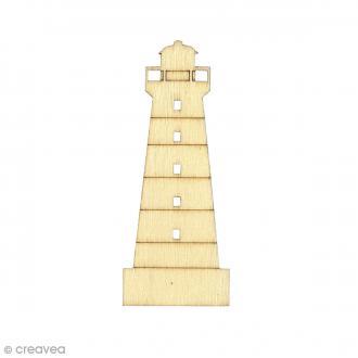 Silhouette en bois 10 x 4 cm - Phare - 3 pcs