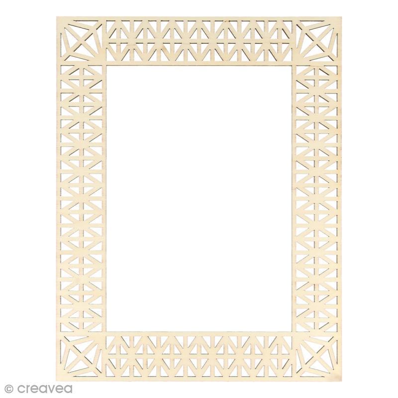 Cadre en bois Géométrique - 23 x 18 cm - Photo n°1