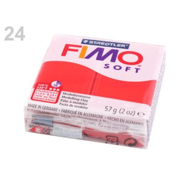 1pc Rouge FIMO Polymère pâte à modeler 57 octies, Doux, -, de l'Artisanat et Loisirs - Photo n°1
