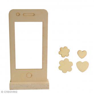 Cadre photo en bois à monter - Smartphone - 13 x 6,5 cm