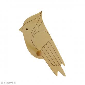 Patère en bois Perroquet