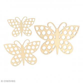 Silhouette en bois 9 à 15 cm - Papillons Pois - 3 pcs