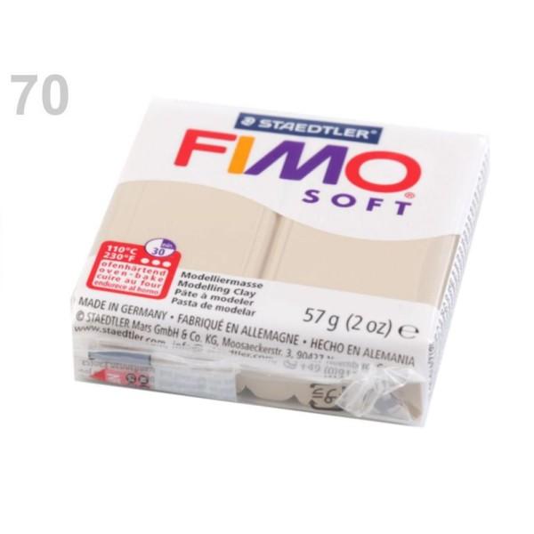 1pc Lightbeige FIMO Polymère pâte à modeler 57 octies, Doux, -, de l'Artisanat et Loisirs - Photo n°1