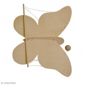 Mobile Papillon en bois à décorer