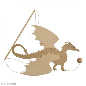 Mobile Dragon en bois à décorer