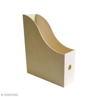 Porte revues à décorer - 9 x 24,5 x 31 cm