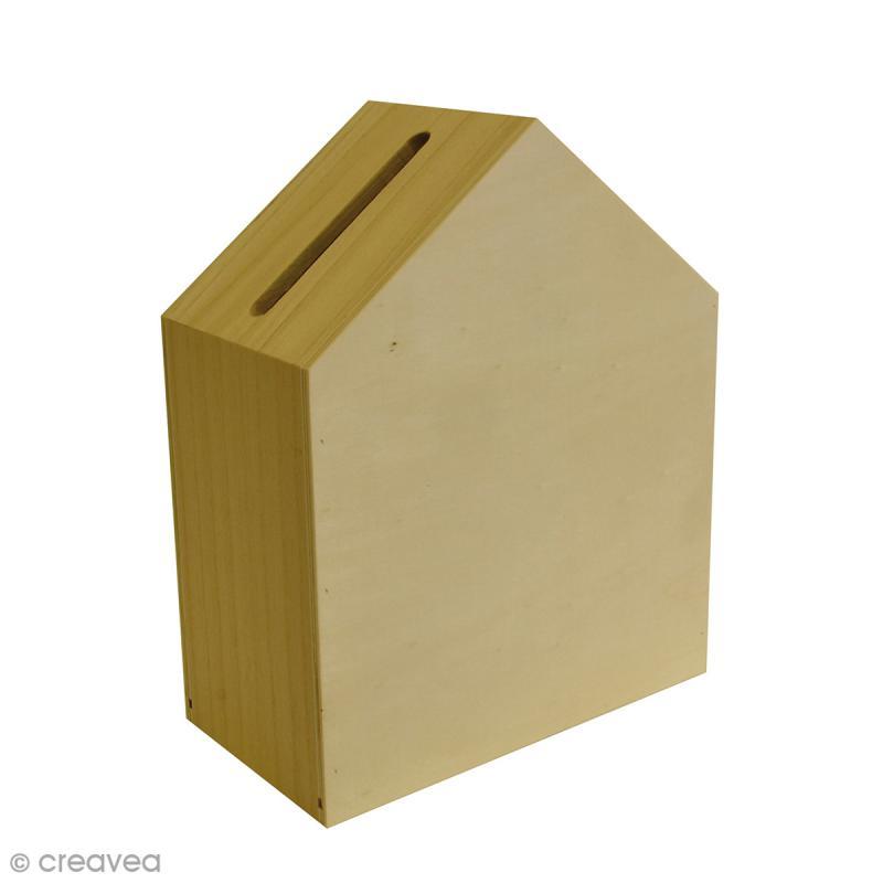Urne maison d corer 23 5 x 12 8 x 30 cm urne d corer creavea - Maison a decorer ...