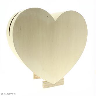 Urne Coeur en bois - 35 cm