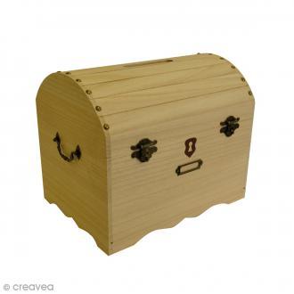 Urne coffre de pirate à décorer - 32 x 22,5 x 25 cm