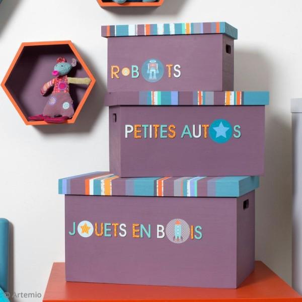 Set de 3 caisses avec couvercles à décorer - De 28 x 17 cm à 40 x 29 cm - Photo n°2