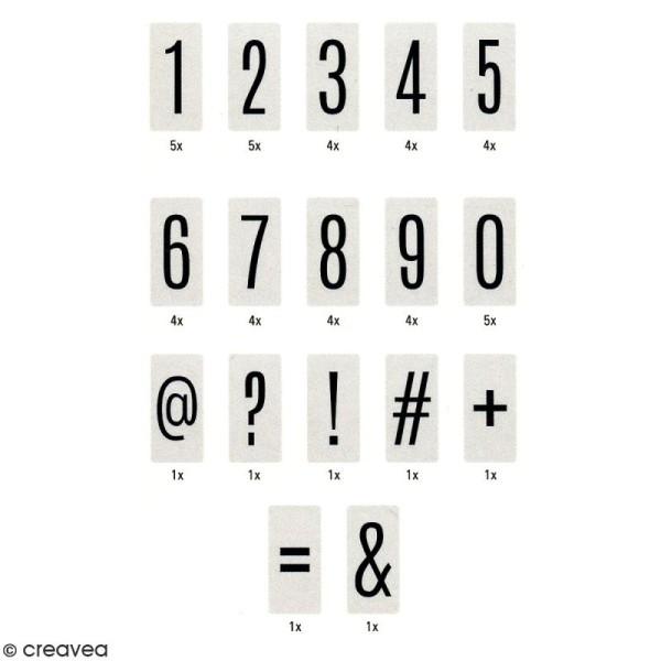 Diapositives nombres pour lightbox - Noires - 50 pcs - Photo n°2