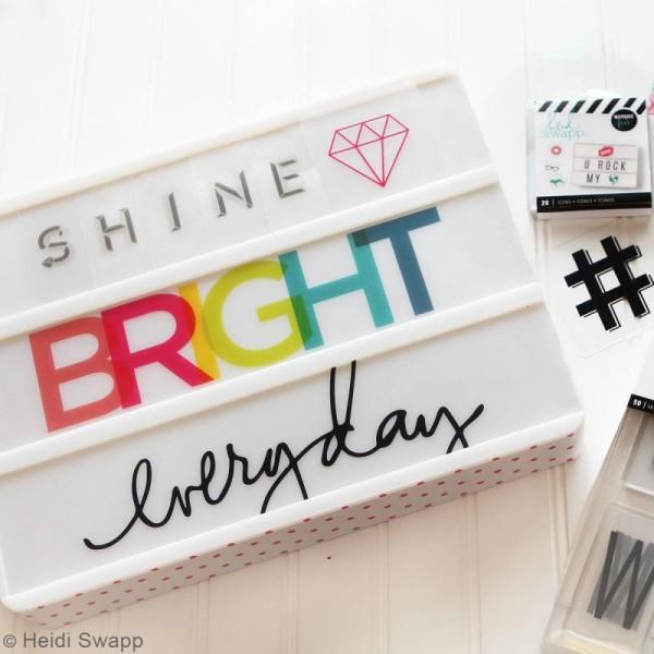Diapositives nombres pour lightbox - Noires - 50 pcs - Photo n°6