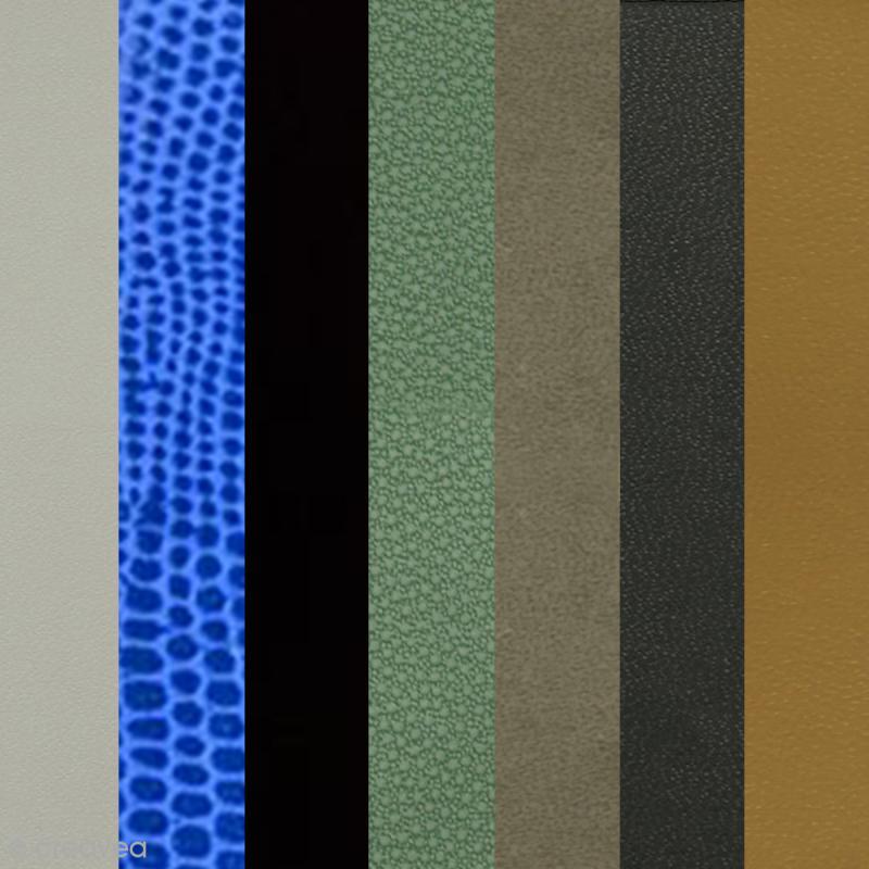 Papier Skivertex simili cuir - Feuille adhésive 30 x 30 cm - Photo n°1