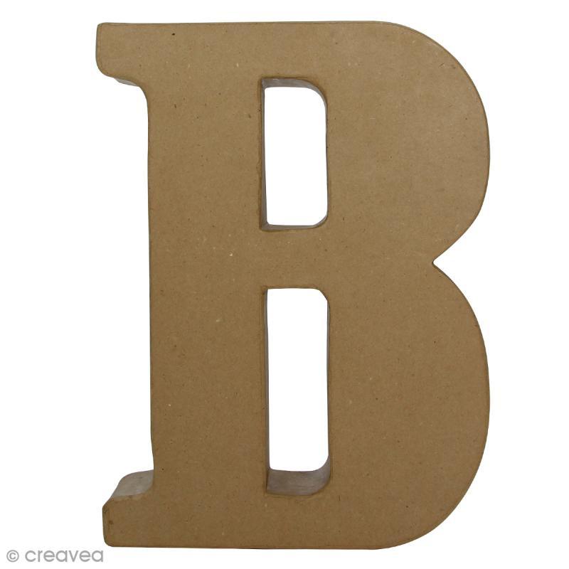 Lettre fantaisie B - 22 x 30 cm - Photo n°1