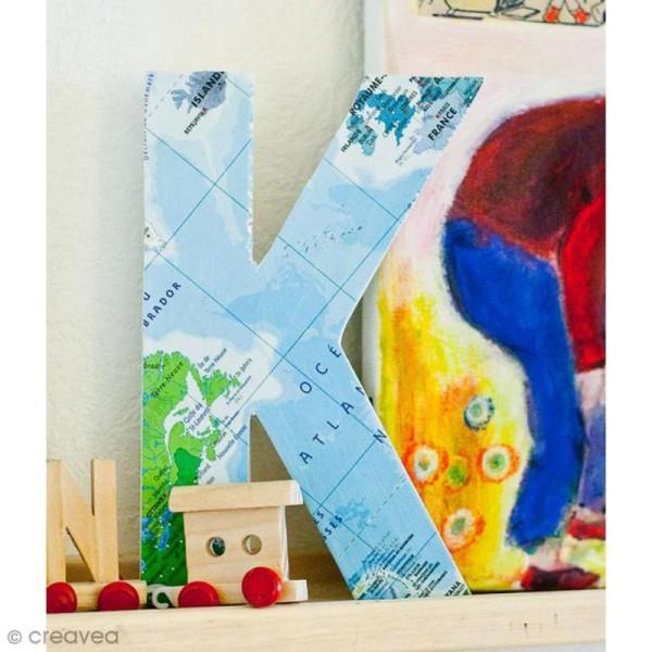 Lettre fantaisie D - 21,5 x 30 cm - Photo n°3