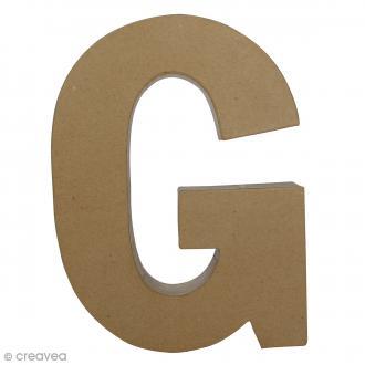 Lettre fantaisie G - 22 x 30 cm