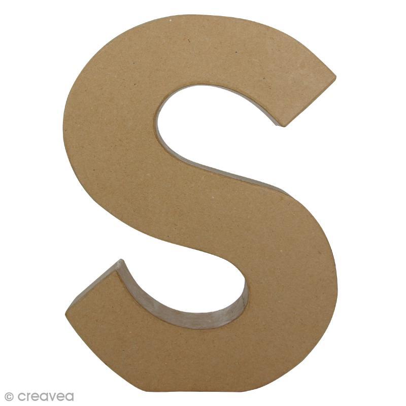 Lettre fantaisie S - 21,5 x 30 cm - Photo n°1