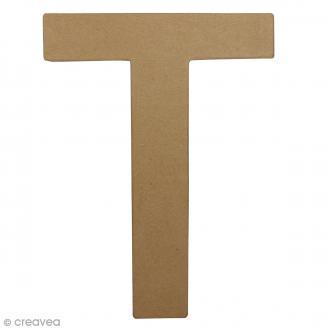 Lettre fantaisie T - 21,5 x 30 cm