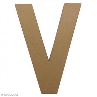 Lettre fantaisie V - 21,5 x 30 cm