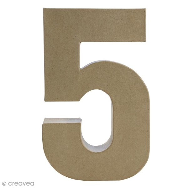 Chiffre fantaisie 5 - 18,5 x 30 cm - Photo n°1