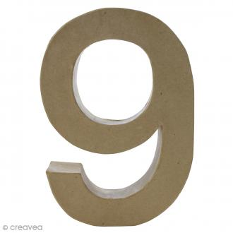 Chiffre fantaisie 9 - 20,5 x 30 cm