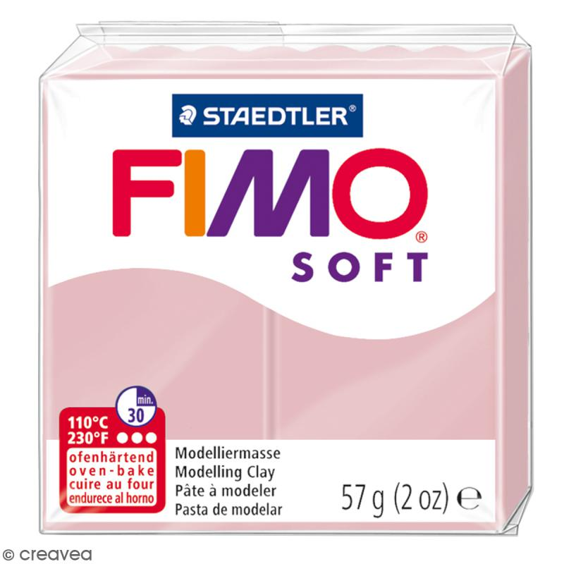 Fimo soft Rose tendre 21 - 57 gr - Photo n°1