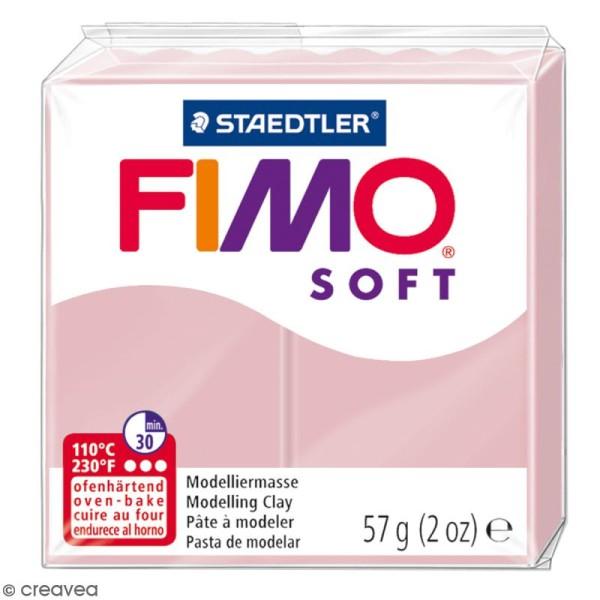 Pâte Fimo soft Rose tendre 21 - 57 gr - Photo n°1