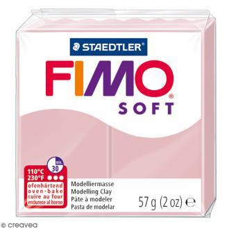 Pâte Fimo soft Rose tendre 21 - 57 gr
