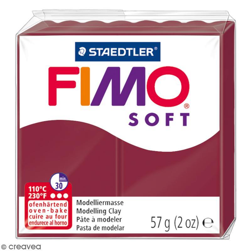Pâte Fimo soft Rouge merlot 23 - 57 gr - Photo n°1